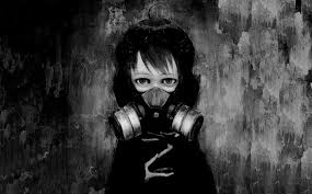 4506427 Illustration Anime Girls Black Children Gas Masks