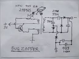 i bought one of those electronic bug zapper fly swatters they mosquito killer circuit diagram pdf at Bug Zapper Wiring Diagram