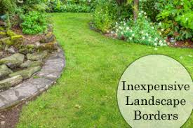 Inexpensive landscape borders