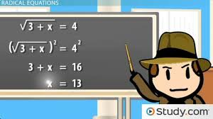 solving radical equations with two radical terms lesson transcript study com