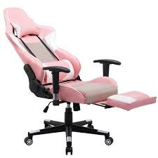 costway ergonomic gaming chair high back racing office chair w lumbar support footrest 8