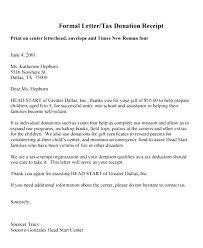 charitable contribution receipt letter tax donation receipt letter template charitable deductible