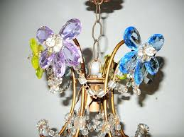 multi coloured chandelier french style multicoloured crystal prism flowers chandelier for 2 multi color stone multi coloured chandelier