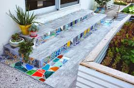 garden mosaics. Beautiful Garden Easy DIY Mosaic Step Decorations With Garden Mosaics N