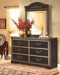 Ashley Coal Creek Dark Brown 2 Piece Dresser and Mirror