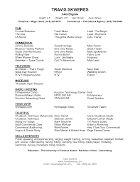 Cover Letter Theater Resume Template Theater Resume Template