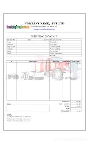 Invoice For Shipping Sample Shipping Invoice Shipping Invoice Template 1 Chakrii