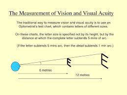the merement of vision and visual acuity n