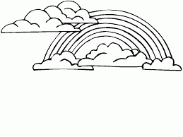 Coloring Pages Of Clouds Rainbow Cloud Coloring Pages Rainbow