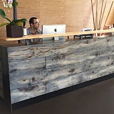 interesting office lobby furniture. Buy A Hand Made #8 Reclaimed Distressed Wood Reception Desk, To Order From Fine Design Fabrication | CustomMade.com Interesting Office Lobby Furniture