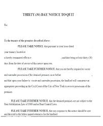 30 day notice to landlord form how to write a 30 day notice landlord sample printable form real