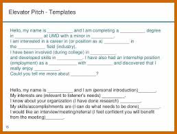 Elevator Pitch Examples For Students 5 6 Example Of Elevator Speech Imageresume