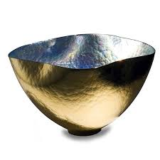 manego gold round glass bowl externally gold bowl with crystal glass internal modern design an luxury for your home decor centerpieces 1052 387 00