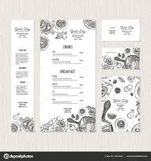 breakfast menu template cafe breakfast menu template cafe identity vector illustration