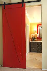 red barn door. Bath Barn Door Red
