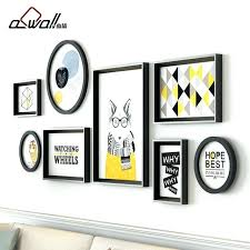 collage frames on wall collage frames modern round photo frames for picture sofa background wall frame