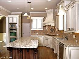 simple antique white kitchen cabinets with chocolate glaze in glazed white kitchen cabinets