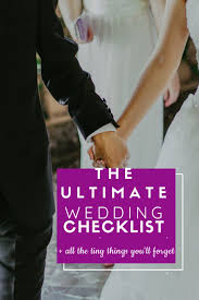 Plan Weddings Things Needed For Planning A Wedding A Complete Checklist
