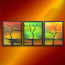 home decor wall decor abstract tree acrylic painting