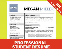College Student Modern Resume Modern Resume Template For Word 1 3 Page Resume Cover Letter