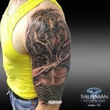 фото татуировки латы в стиле реализм черно белые татуировки на