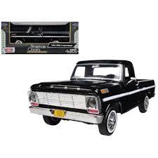 1969 Ford F-100 Pickup Truck Black 1/24 Diecast Model By Motormax ...
