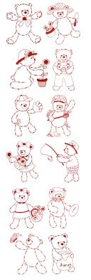 Redwork Machine Embroidery Designs Free Embroidery Free Machine Embroidery Designs Fuzzy Teddy