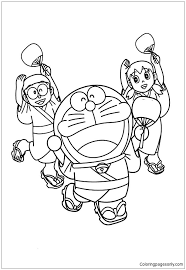 Doraemon & nobita coloring book allows you to color shizuka univers characters such nobita nobi, shizuka, suneo, goda takeshi, dorami, hidetoshi dekisugi if you own rights to any of the images, and do not wish them to appear here, please contact us and they will be removed it from theapplication. Nobita Shizuka And Doraemon Wearing Yukata Dance Together Coloring Pages Doraemon Coloring Pages Free Printable Coloring Pages Online