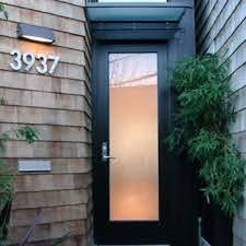 full lite frosted glass exterior door