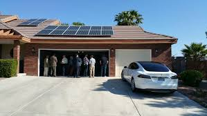 stan hanel a homeowner uses photovoltaic solar panels to generate electric power for both his residential