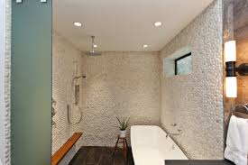 shower bench ideas bathroom contemporary with freestanding tub frosted glass