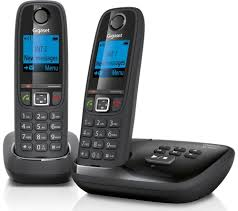 gigaset duo al415a cordless phone with answering machine twin handsets