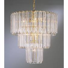 trans globe lighting 9647 pb polished brass back to basics 9 light 3 tier mini chandelier