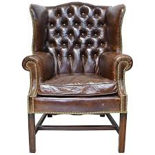 Image Wingback Chair Vintage Chesterfield Wingback Chair With Tufted Brown Leather For Sale 1stdibs Vintage Chesterfield Wingback Chair With Tufted Brown Leather For