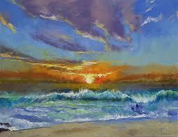 malibu painting malibu beach sunset by michael creese
