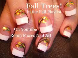 Easy Fall Leaf Nails | DIY Thanksgiving Nail Art Design Tutorial ...