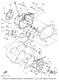 Yamaha atv parts 1987 big 4wd yfm350fwt crankcase