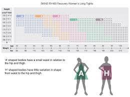 Womens Apparel Sizing Charts