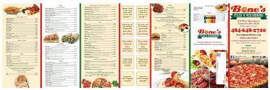 Bone's Pizza & Restaurant Menu - Berks Mont Menus