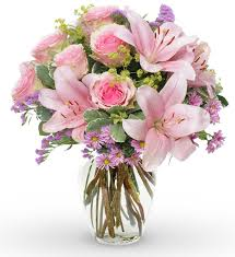 Image result for pink bouquet of flowers