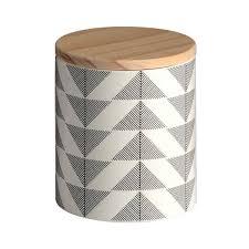 891 grey white ceramic geometric storage jar