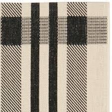 competitive plaid outdoor rug black bone safavieh com