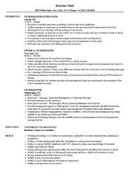 Store Keeper Resume In Word Format Free Resume Templates