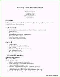 Summary Resume Example Truck Driver Resume Examples Beautiful Truck Driver Summary