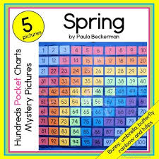 Classroom Pocket Charts Spring 100s Pocket Chart Mystery Pictures
