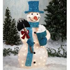 Exterior Cool Outdoor Christmas Decorations Ideas: For Classy Snowman Your Decorations: