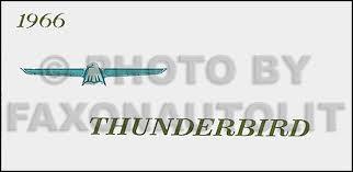1966 ford thunderbird wiring diagram manual reprint 1966 ford thunderbird reprint owner s manual