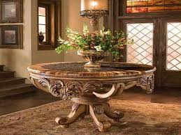 antique round foyer table