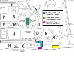 ga fl parking map ga fl stadium seating