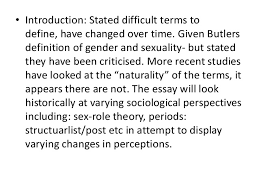 essay topics on human sexuality